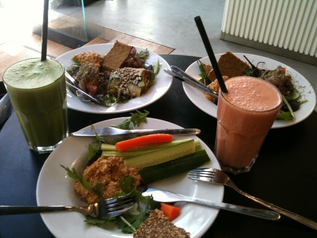 Raw frokost med juice