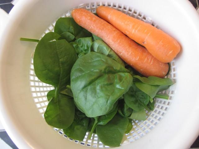 Spinat og gulerødder